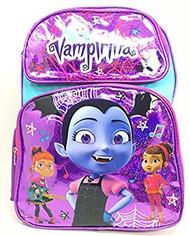 "Backpack Disney Vampirina Purple Shiny w/Friends 16"" School Bag 006020"