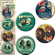 Button Set Cheech & Chong Assorted (Set of 4) b-5428-s