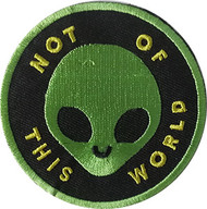 Patch C&D Aliens Not of this World Iron-On p-dsx-4774