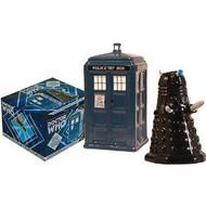 Salt & Pepper Shakers Set DrWho TARDIS vDalek 2453