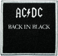 Patch ACDC Back in Black Iron-On p-0533