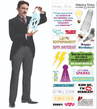 Stationery Tesla Card and Sticker Sheet 3658