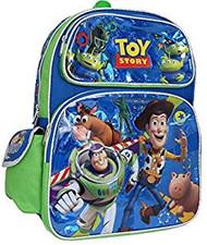 "Backpack Disney Toy Story Buzz/Woody Blue Shiny 16"" 002824"