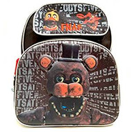 "Backpack Five Nights at Freddy's Black 3D Pop-up 16"" 169156"