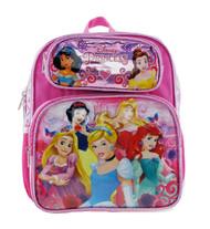 "Small Backpack Disney Princess Shiny Girls 12"" 004644"