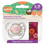 Pacifiers Ulubulu Love Blossoms (6-18M) & Wildflower Clip