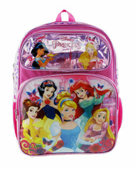 "Backpack Disney Princess Shiny Girls 16"" 004668"