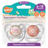 Pacifiers Ulubulu Love Blossoms & Blossom Orange (6-18M)