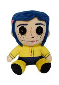 "Plush Coraline Button Eyes Coraline Sitting 8"" New kr15504"