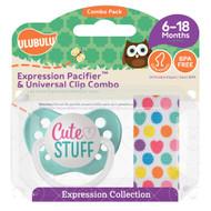 Pacifiers Ulubulu Cute Stuff (0-6M) & Heart Confetti Clip