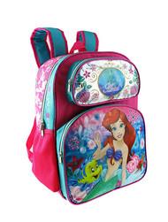 "Backpack Disney Princess Ariel Large 16"" 001421"