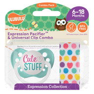 Pacifiers Ulubulu Cute Stuff (6-18M) & Heart Confetti Clip
