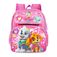 "Small Backpack Paw Patrol Pink Skye Everest Heart 12"" 002893"