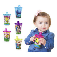 Baby Feeding Nuby 5-Pk Printed Wash or Toss Cups w/Spout Lid 10oz Vary Color 94050