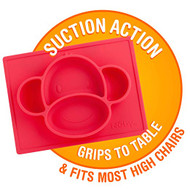 Baby Feeding Nuby Sure Grip Silicone Placemat Monkey Red 80245