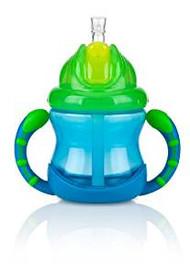Baby Feeding Nuby 2 Handle Flip N' Sip Cup 8oz (Blue) 92552