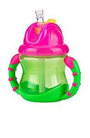 Baby Feeding Nuby 2 Handle Flip N' Sip Cup 8oz (Pink/Green) 92554