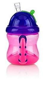 Baby Feeding Nuby 2 Handle Flip N' Sip Cup 8oz (Pink/Purple) 92553