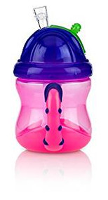 Baby Feeding Nuby 2 Handle Flip N' Sip Cup 8oz (Pink/Purple) 92553