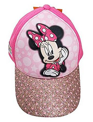 Baseball Cap Disney Minnie Mouse Pink Shiny 3D Pop Up Kids 381995