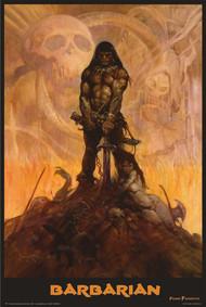 """Poster Studio B Barbarian Frank Frazetta 36"""" x 24"""" Wall Art p0802"""