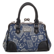 Hand Bag Doctor Who Scribble Art Kiss Lock Satchel lb5sxpdrw