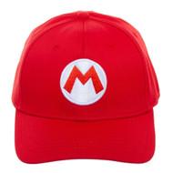 Baseball Cap Nintendo Super Mario Red Flex Fit Hat bx6u49smb