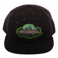 Baseball Cap Rick And Morty Spaceship Black Snapback sb4llxric