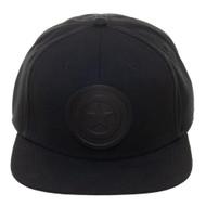 Baseball Cap Captain America Black on Black Snapback sb4aedmvu