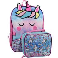 Backpack Unicorn Rainbow w/Lunch Bag 99CFLS8UP