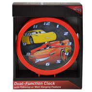 "Wall Clock Disney Cars 3 Ramirez Yellow 6"" CRC507"