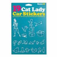 Car Sticker Gamago Cat Lady EA1524