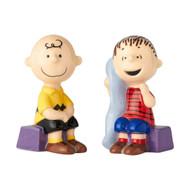 Salt & Paper Shaker Peanuts Charlie & Linus Ceramic New 6001031