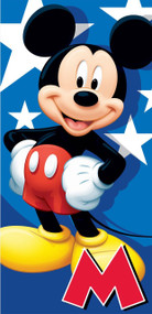 Towel Disney Mickey Mouse Velour Beach 007088