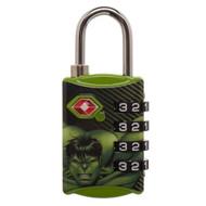 Combination Lock Marvel Hulk TSA ta5ralmvl