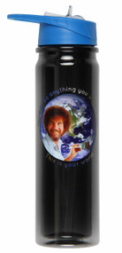Water Bottle Bob Ross You Can Do Anything You Want to Do h2o-ross-wrld