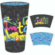 Pint Glass CatDog Black Inside Print 16oz gls-nick-cdtc