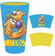 Pint Glass CatDog Inside Print 16oz gls-nick-cdps