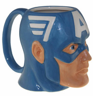 Molded Mug Marvel Captain America Face 16oz momg-avas-capshld