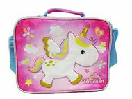 Lunch Bag Unicorn Cute Rainbow Pink New 005092