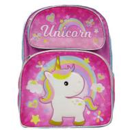 Backpack Unicorn Cute Rainbow Pink New 005108