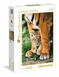 Puzzle Creative Toys Bengal Tiger Cub Between its Mother's Legs 500pcs 35046