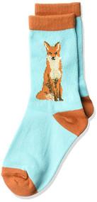 Kids's Crew Socks K Bell Foxy Sox Turquoise (7-8.5)