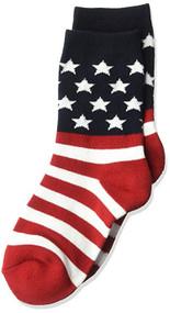 Kids's Crew Socks K Bell American Flag R/W/B (7-8.5)