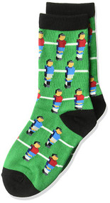 Kids's Crew Socks K Bell Fooseball Green (7-8.5)