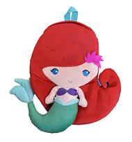 "Plush Backpack Disney Ariel Little Mermaid 15"" 005412-2"