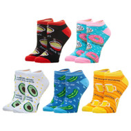 Ankle Sock Food Puns 5 Pack xs7n64plw