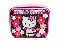 Lunch Bag Hello Kitty Flowers Black Sanrio 82602