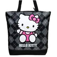 Tote Bag Hello Kitty Black Checker Sanrio 82087