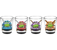 Shot Glass Set TMNT Name Face Set of 4 sg-tmnt-set1